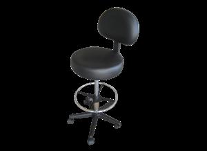 כסא מטפל עם משענת גב וחישוק לרגליים